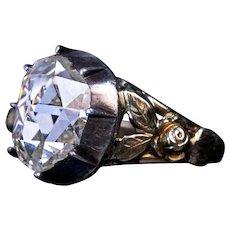 Antique Mid 19th Century Rose Cut Diamond Ring