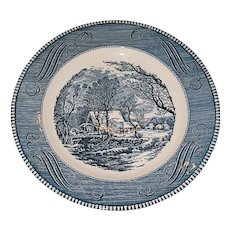 Currier and Ives plate  Old Grist Mill pattern