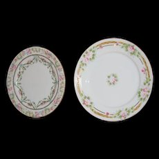 Two For One- Delicate cake plates . Japan and Austria