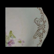 Gorgeous Harker Pottery Co plate  Hydrangeas and Violets