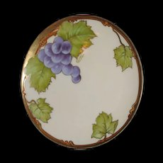 Bavarian china, Hand painted, Signed by Carion  Grapes  real enough to eat