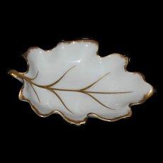 Royal Limoge Miniature dish- Leaf shape