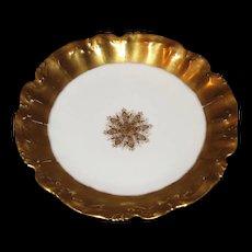 L S& S Limoges plate Sunburst  of gold