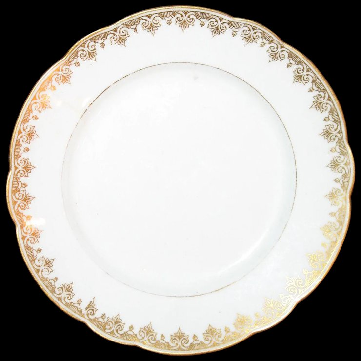 L Bernardaud & Co. Limoges cake plates : Old Is Gold | Ruby Lane
