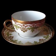 Limoges  cup and saucer