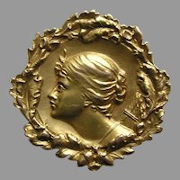 Art Nouveau Diana 14k Brooch/Watch Pin