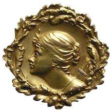 Art Nouveau Diana 14k Brooch/Watch Pin
