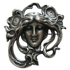 Gorham Art Nouveau Sterling Brooch
