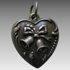 "Vintage Bell ""Lois"" Sterling Heart Charm"