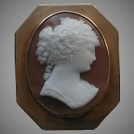 Antique 14k Shell Cameo Brooch