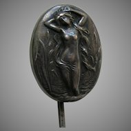Art Nouveau Lady Sterling Stickpin