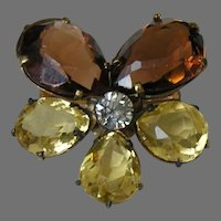 Victorian Paste Pansy Brooch