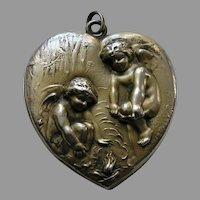 Unger Chilly Cupids Large Sterling Heart Locket