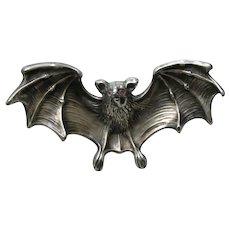 Unger Bat Large Sterling Brooch