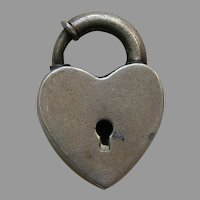 Vintage Sterling Heart Lock