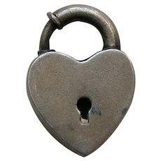Vintage Sterling Heart Lock