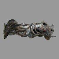 Antique European Snake Silver Bracelet