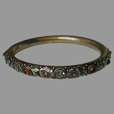 Antique Gorham Gem Set Sterling Bangle