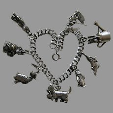 Hand and Hammer Beatrix Potter Sterling Charm Bracelet