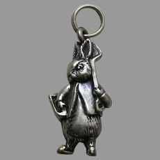 Hand and Hammer Peter Rabbit Gardener Beatrix Potter Sterling Charm