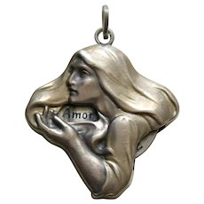 Antique Fortune Teller 800 Silver Charm/Pendant