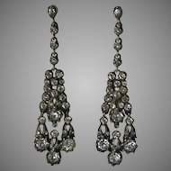 Edwardian Paste Sterling Earrings