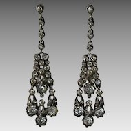Edwardian Paste Sterling Earrings