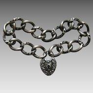 Victorian Bracelet and Sterling Heart Lock