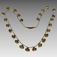 Edwardian Citrine Seed Pearl Gold Necklace