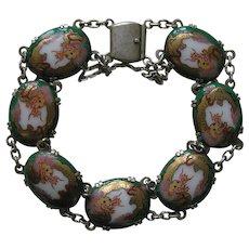 Vintage Satsuma Silver Bracelet