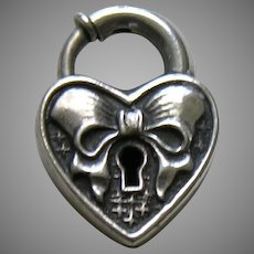 Walter Lampl Bow Sterling Heart Lock