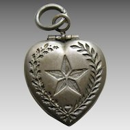 Vintage Lone Star Sterling Heart Locket Charm