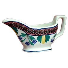 "Scottish ""Auld Heather Ware"" Gravy Boat with Stick Spatter Decoration"