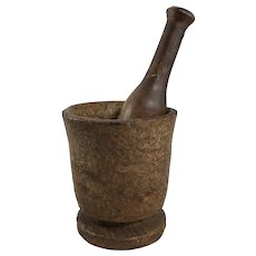 Turned Burl Wood Mortar and Pestle