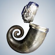 19th Century Scottish Horn & Silver Mounted Snuff Mull