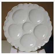 Porcelain Oyster Plate in Ranson Pattern Haviland Limoges
