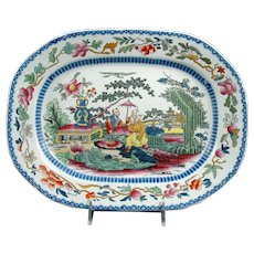 "19th Century Mason's Ironstone Platter in the ""Mogul"" Pattern"
