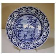 """Early 19th Century Staffordshire Plate """"City Hall New York"""""""
