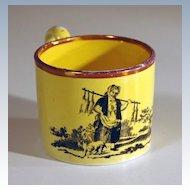 19th Century English Child's Yellow Glazed Earthenware Mug