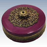 Early 20th Century German Porcelain Trinket or Puff Box
