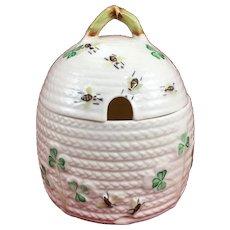 Belleek Shamrock Pattern Honey Pot