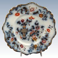 """19th Century Staffordshire Plate in """"Japan Pattern"""""""