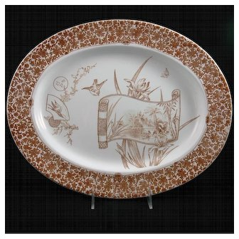 """19th Century English Oval Platter in the """"CAIRO"""" Series"""