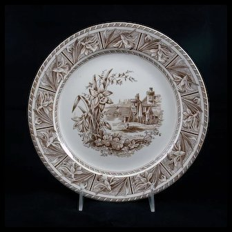 19th Century English 9½-inch Plate in the Daffodil Pattern
