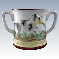 "19th Century English Double Handled ""Frog"" Mug"