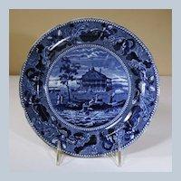 "19th Century Staffordshire Plate, ""Nahant Hotel nr Boston"""