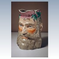 19th Century Staffordshire Jug in the Form of Bacchus's Head