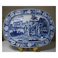 English Pearlware Platter in THE BEE MASTER Pattern
