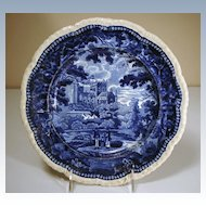 Early 19th Century Staffordshire Plate from the Panoramic Scenery Series