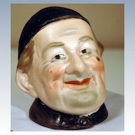 Bisque Figural Humidor of a Smiling Monk